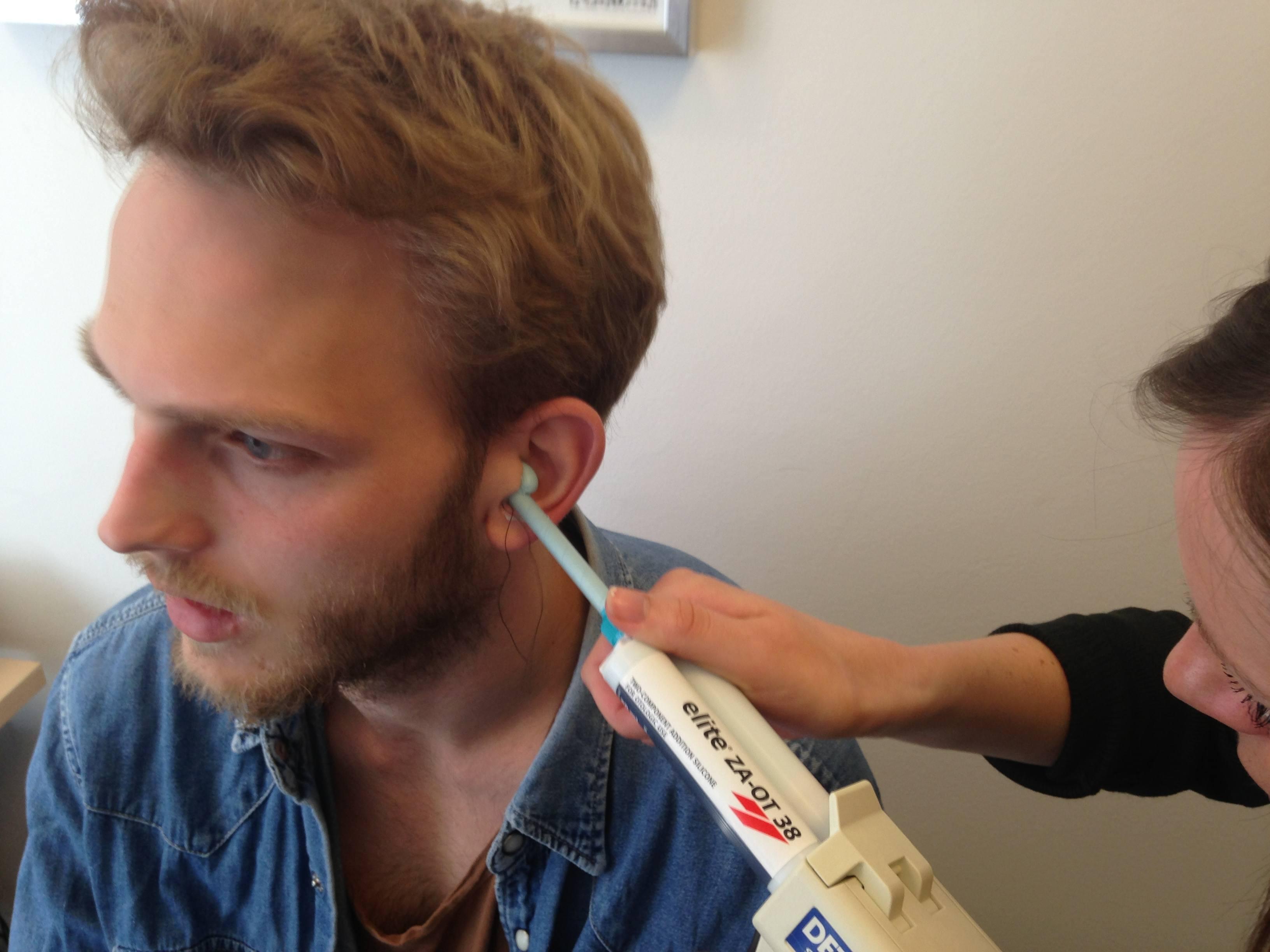Støbning af formstøbte høreværn