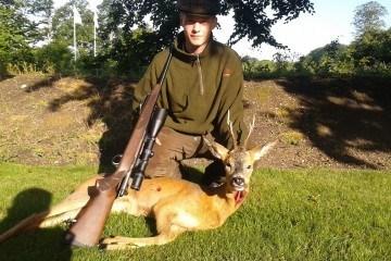 billede mere af min første buk som riffelskytte