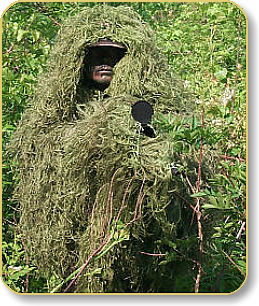 Camouflage tøj Ghillie suit i Leafy Green